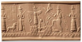 The Adda Seal, Sippar 2300 BC. British Museum, London.
